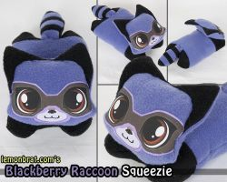 Blackberry Raccoon Squeezie! by lemonbrat