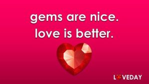 Gems are Nice, Love is Better by drachona