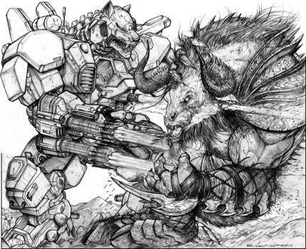 Gunwolf vs Allu Demon Bull by ChuckWalton
