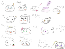 Hetalia mochis sketches by EmeraldTheBatEquidna