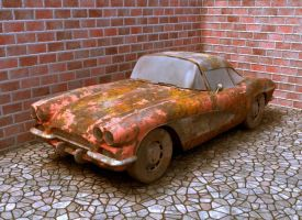 rusted corvette by Chrysley