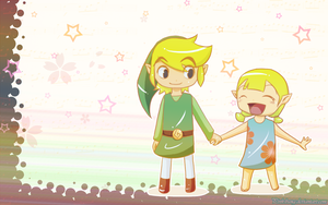 Link and Aryll - Wallpaper by PinK-BanG