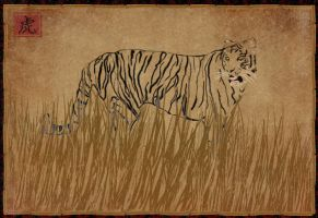 Unfinished Tiger by surlana
