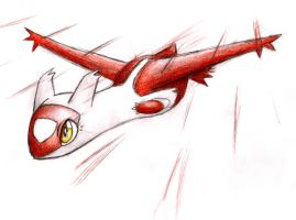 Latias attack by shiroiwolf