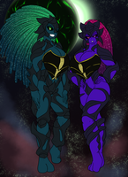 Seeth and Leech flat colours by Betakrogoth