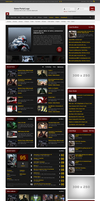 Game News Portal Template .psd by emrah-demirag