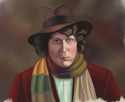 the Fourth Doctor by Resident-Bishounen