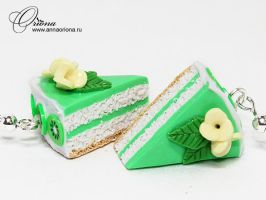 Cake with kiwi by OrionaJewelry