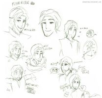The many faces of Flynn Rider. by AlexaClyne