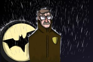 He's Late - Commissioner Gordon by RoninKai