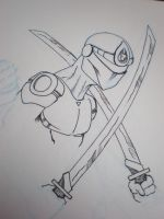 Ninja Inked Sketch by PsykotikDragon