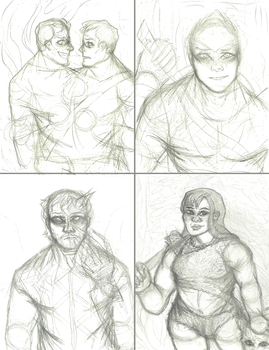 4/4 Art Trades (WIP) by NOTEBLUE13