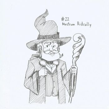 Inktober16 22 Ridcully by HawkHunting