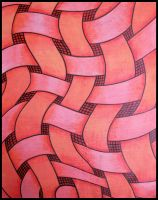 red with black lines by santosam81