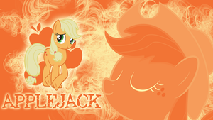 Not a single apple - Applejack Wallpaper by cradet