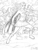 Supergirl commission redux by Colaffee