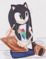 Sonic me by MysteriousJewl