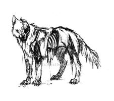 undead wolf by skitzofox