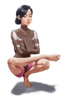 Yoga by whiskypaint