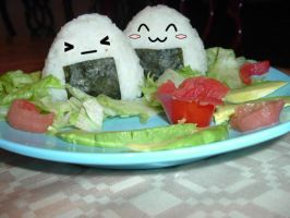 Cute Onigiri by Maye1a