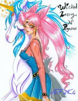 Wicked Lady with Pegasus by alaer