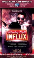 Saturday Night Influx Party Flyer by squizmo