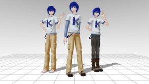 T-Shirt Kaito MMD download by Reon046