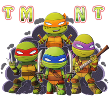 TMNT CHIBIS by CutieClovers