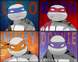 TMNT Pop Art by Nashimus