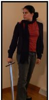 Scarf and Sword by remeyblue-stock