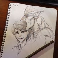 Strange magic sketch 19.06 by Ka-ren