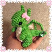 Custom Order - August Dragon w/ bow in Oct's pose by Amaze-ingHats