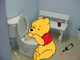 Hungover pooh by isuandrew