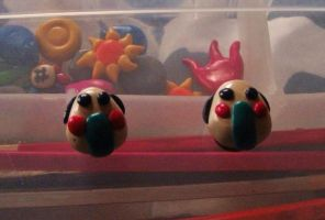 Polymer clay rice ball fridge magnets by chaobreeder16