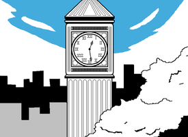 Clock tower by MagicalPouchOfMagic