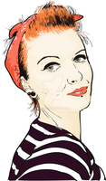Pin Up vector by schym
