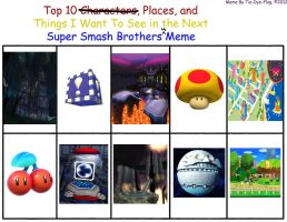 My Top 10 things I want in Super Smash Bros. 4 by rabbidlover01