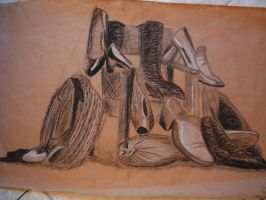 drawing shoes by perupowa