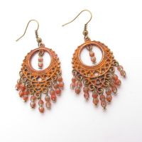 Hand Painted Chandelier Earrings by MoonlightCraft