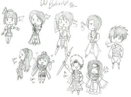 Sketches-DW Babies by pumpkincookie