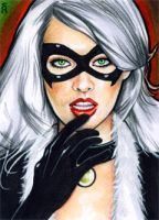 Black Cat Sketch Card 7 by veripwolf