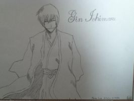 Gin Ichimaru of Bleach by Oo-Mew-oO
