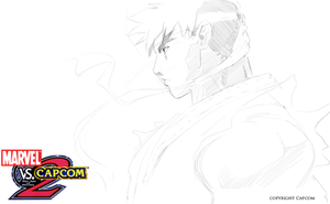 Marvel vs Capcom Ryu studies by joverine