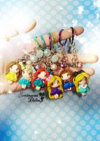 Disney Princesses Colorful Key Chain by SentimentalDolliez