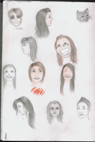 Eleven Faces. by miyumicat