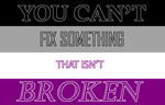 You Can't Fix Something that Isn't Broken by Skycloud-Nya