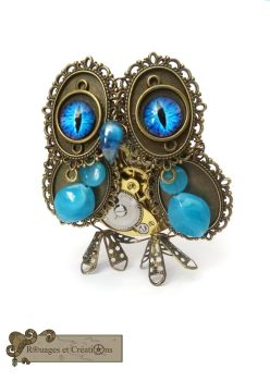 Steampunk Owl by Rouages-et-Creations