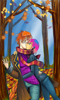 Fall Kiss by Four-Skulls