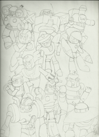 RMs on Parade : Lineart by dfranks