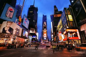 Chaos of Time Square by porbital
